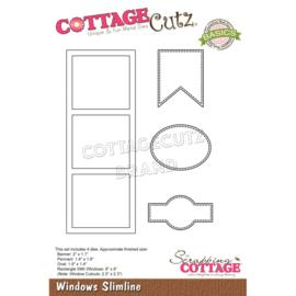 """CCB085 CottageCutz Slimline Dies Windows 8"""" To 1.1"""""""