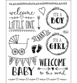 4003.166.00 ViVa Clear Stamps Hello Baby