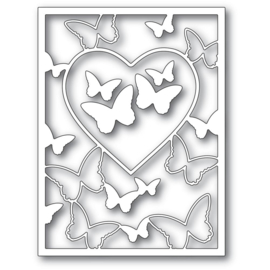 MB94386 Memory Box Dies Butterfly Heart Frame