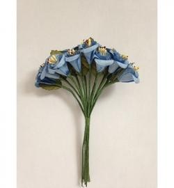 JU0903 Paper Roses Blue