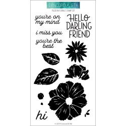 """590413 Concord & 9th Clear Stamps Filled In Florals 4""""X8"""""""