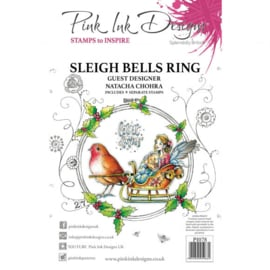 PI078 Creative Expressions Pink ink Sleigh bells clear stamp