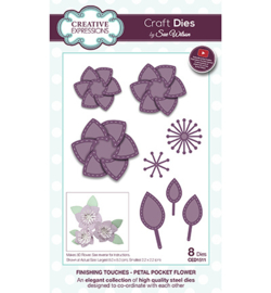 CED1511 The Finishing Touches Collection Petal Pocket Flower