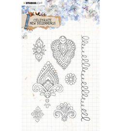 STAMPCNB516	StudioLight Clear Stamp background Celebrate new beginnings nr.516