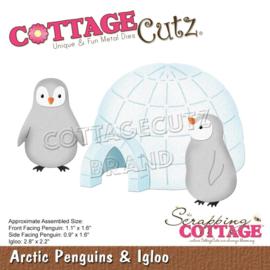 """CC703 CottageCutz Dies Arctic Penguins & Igloo, .9"""" To 2.8"""""""