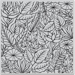 "594821 Hero Arts Cling Stamps Jungle Bold Prints 6""X6"""