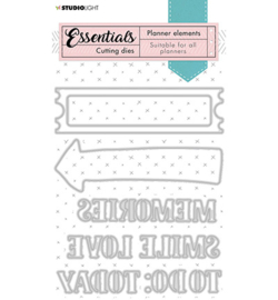 SL-PES-CD08 StudioLight Cutting Die Text dies Planner Essentials nr.08