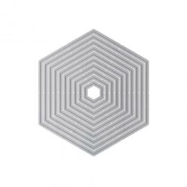 1521E Tonic Studios Essentials basics layering dies hexagon