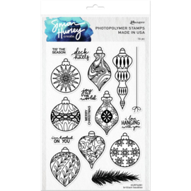 "HUR74281 Simon Hurley create. Cling Stamps Brilliant Baubles 6""X9"""