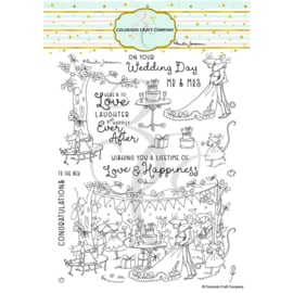 """656269 Colorado Craft Company Clear Stamps Happily Ever After-By Anita Jeram 6""""X8"""""""