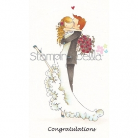 036386 Stamping Bella Cling Rubber Stamp Brett and Brenda Get Married