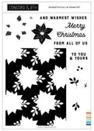 """663674 Concord & 9th Clear Stamps Poinsettia Fill-In 6""""X8"""""""