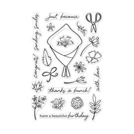 "621716 Hero Arts Clear Stamps Flower Bouquet Pieces 4""X6"""