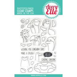 "590187 Avery Elle Clear Stamp Set Peek-A-Boo Summer 4""X6"""