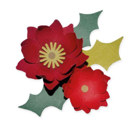664513 Sizzix Bigz Die Winter Poinsettia  Lisa Jones