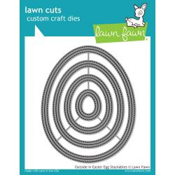 LF1627 Lawn Cuts Custom Craft Die Outside In Easter Egg Stackables