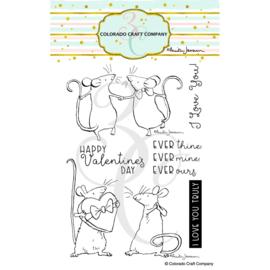 "647535 C3AJ417 Colorado Craft Company Clear Stamps Ever Thine-By Anita Jeram  4""X6"""