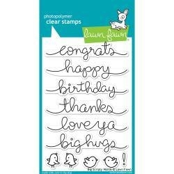 LF1171 Lawn Fawn Clear Stamps Big Scripty