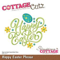 "CC414 CottageCutz Die Happy Easter Phrase 3.8""X3.1"""
