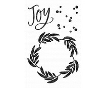 CS-424 My Favorite Things Joy Wreath Clear Stamps