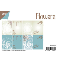 6011/0530 Papier Set A4 Design Flowers