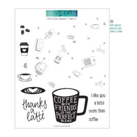 "612349 Concord & 9th Clear Stamps Coffee Blend Turnabout 6""X8"""