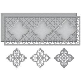 S5452 Spellbinders Etched Dies Moroccan Kaleidoscope Slimline