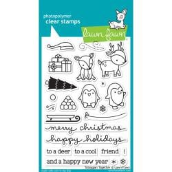 LF976 Lawn Fawn Clear Stamps Toboggan Together