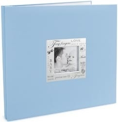 352349 Expressions Postbound Album Baby - Blue