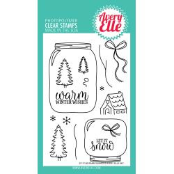 "106318 Avery Elle Clear Stamp Set Warm Wishes 4""X6"""