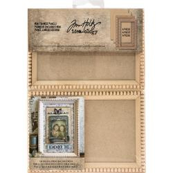 TH93582 Idea-Ology Mini Wooden Framed Panels Natural 4/Pkg