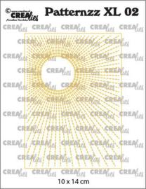 CLPATXL02 Crealies Patternzz XL Zon in stiklijn