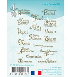 55.4735 Leane Creatief Clear Stamp Vœux Français