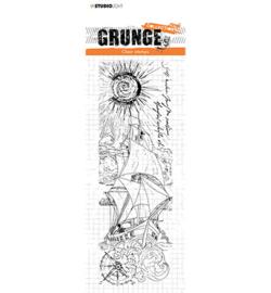 SL-GR-STAMP104 StudioLight  Clear Stamp Sailing in sunlight Grunge nr.104