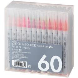 RB-6000AT/60V Zig Clean Color Real Brush 60 Color Set