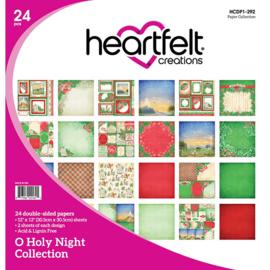 "243380 Heartfelt Creations Double-Sided Paper Pad O Holy Night 12""X12"" 24/Pkg"