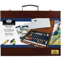 513883 Wooden Box Art Set Acrylic Painting 25pc