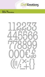 115633/0526 CraftEmotions Die typewriter cijfers Card