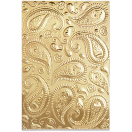 664796 Sizzix 3D Textured Impressions Paisley By Georgie Evans