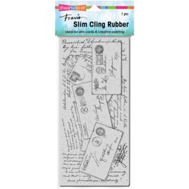 645683 Stampendous Cling Stamp Slim Vintage Post