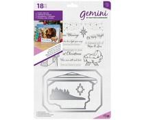GEM-STD-CHBLE  Gemini Christmas Blessings Photo Frame Stamp & Dies
