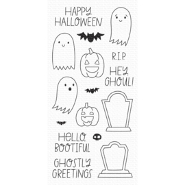 "CS495 My Favorite Things Clear Stamps Ghostly Greetings 4""X8"""