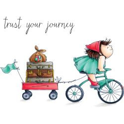 """401009 Stamping Bella Squidgy Cling Stamp Squidgy On A Journey 6.5""""X4.5"""""""