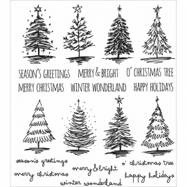 CMS-LG 249 Tim Holtz Cling Stamps Scribbly Christmas