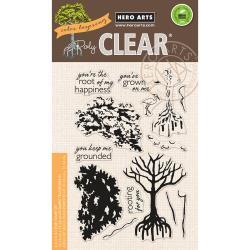"HA-CM166 Hero Arts Clear Stamps Color Layering Mangrove 4""X6"""