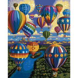 "464740 Paint By Number Kit Balloon Festival 16""X20"""