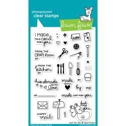 LF1130 Lawn Fawn Clear Stamps Just For You