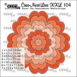 CLNestXXL104 Crealies Crea-nest-dies XXL Bloem