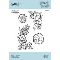 SBS190 Spellbinders Cling Stamps Little Flowers  By Stephanie Low