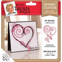376850 Leonie Pujol Metal Die Hearts & Swirls